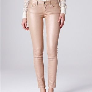 LUCKY BRAND rose gold Charlie skinny jeans